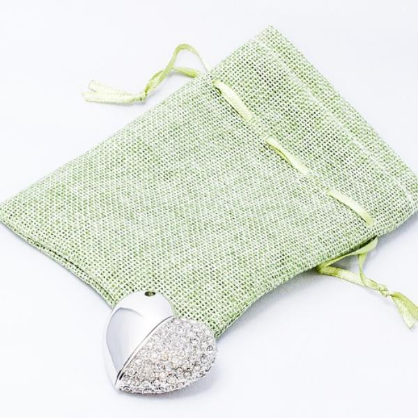 Green Pouch and Flash Drive