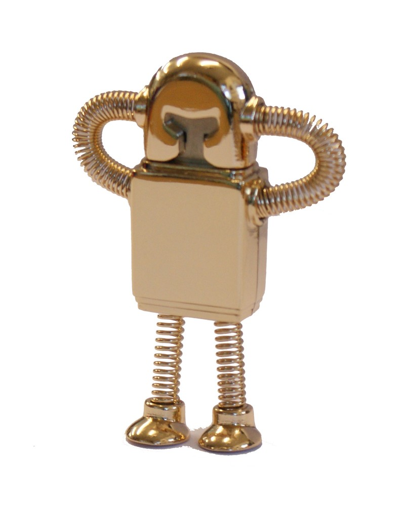 Bendy Gold Robot