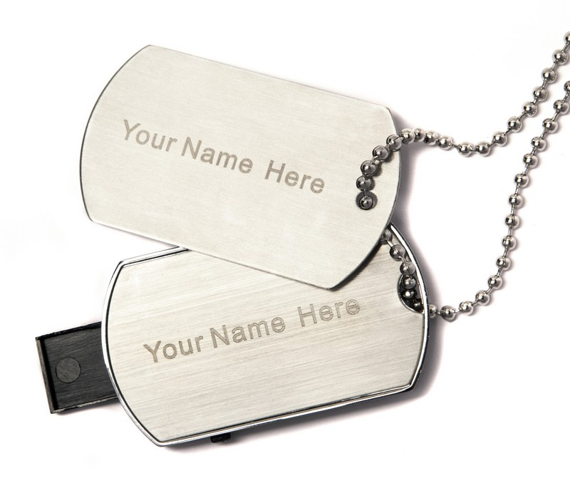 5 x 8GB Branded Dog Tags