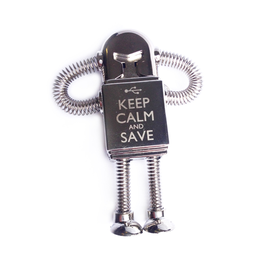 Engraved Bendy Robot - Keep Calm & Save
