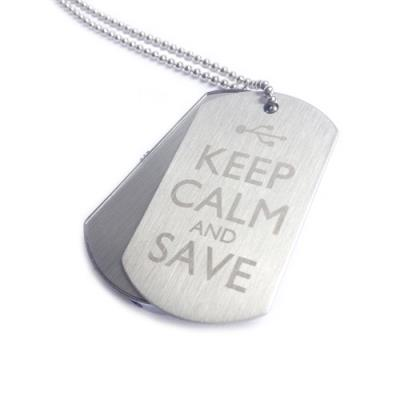 Keep Calm Save Dog Tags Branded Engraved