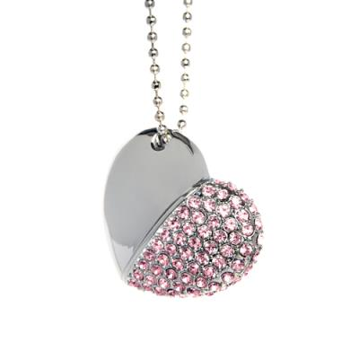 Pink Diamond Heart with Chain