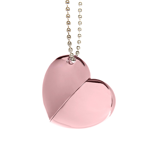 Plain Pink Heart with Chain