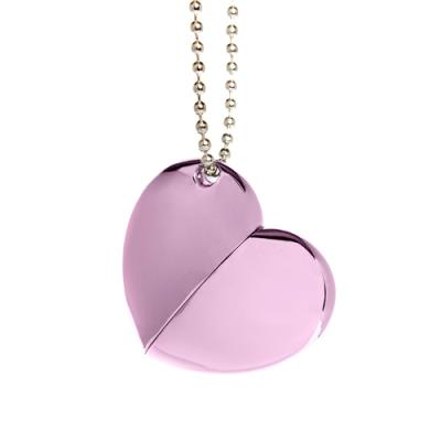 Plain Purple Heart with Chain