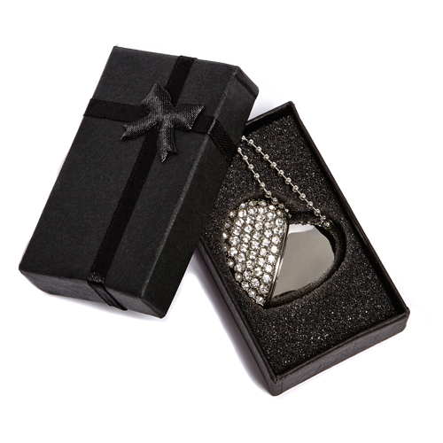 Silver Diamond Heart Box