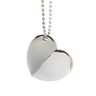 Plain Silver Heart with Chain