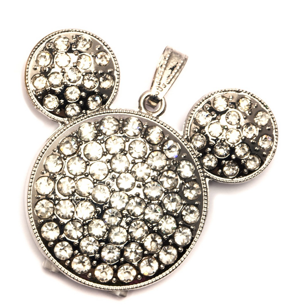 Sparkly Mouse USB Flash Drive - Silver