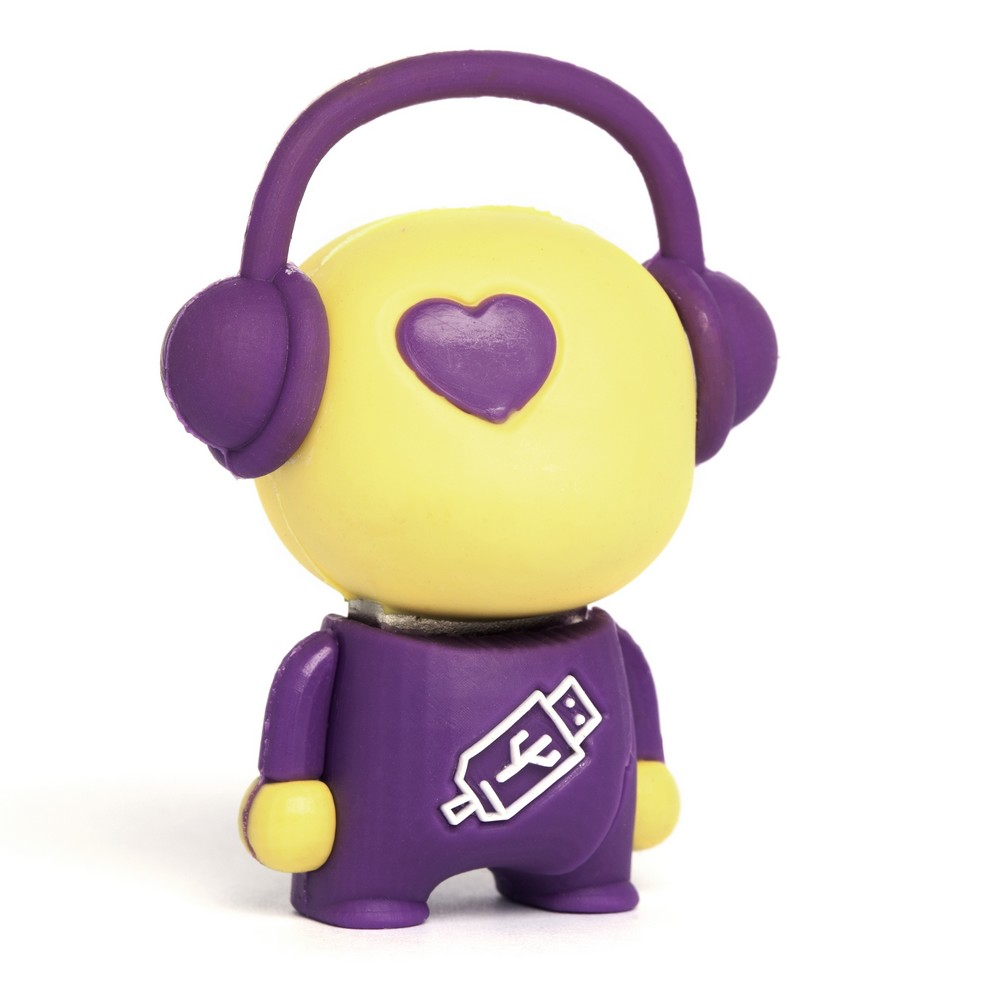 Walker Music Man USB Flash Drive - Yellow/Purple